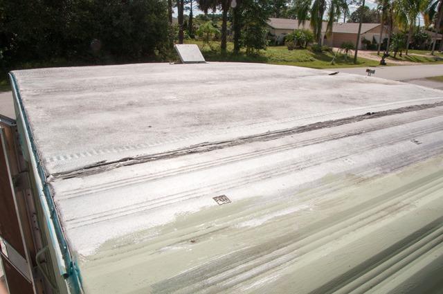 Waterproofing Vintage Trailer Aluminum Roof For Glinda